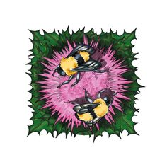 Harmony Series on Behance Symbiosis; The Bumble Bee and the Thistle. Digital illustration.