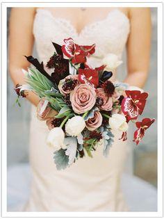 Enchanted Garden Malibu Wedding by Alchemy Fine Events www.alchemyfineevents.com at Stone Manor Romantic bridal bouquet flowers