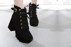 f0e2dd63953 Ankle Length Lace Up Boots paired it with black skinny jeans and crop top  for a