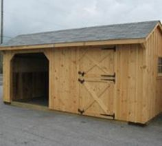 runin_w_stall Shed Images, Run In Shed, Board And Batten Siding, Wooden Windows, Horse Barns, Outdoor Structures, Running, Sheds, Building