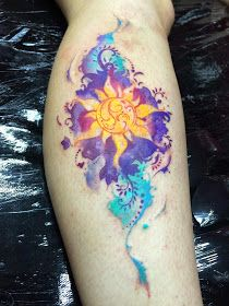 Rapunzel sun tattoo