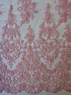 Powder Pink Lace - Alexandra