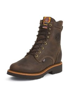 MEN'S CHOCOLATE GAUCHO J-MAX® LACE UP WORK BOOTS