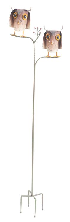 """Features:  -Owl pair garden stake.  Product Type: -Garden stake.  Color: -Multi-colored.  Style: -Rustic.  Material: -Iron.  Theme: -Animal. Dimensions:  Overall Height - Top to Bottom: -56.25"""".  Over"""