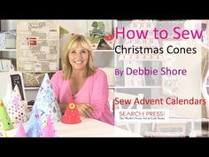 This is a project from my book, Sew Advent Calendars, using the brand new Butterick sewing machine and fabric from The Craft Cotton Company. The cone could b...