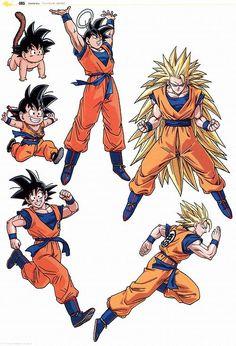 Goku en todas sus fases. #DBZ #Goku                                                                                                                                                                                 Más