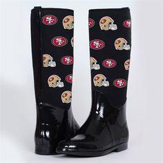 Cuce Shoes Green Bay Packers Women's Enthusiast II Rain Boots - Black < It's good to be prepared for any weather when it comes to tailgating. Nike Pegasus, Pittsburgh Steelers Merchandise, Cincinnati Bengals, Indianapolis Colts, Denver Broncos, Steelers Gear, Steelers Stuff, Buffalo Bills, New Orleans Saints