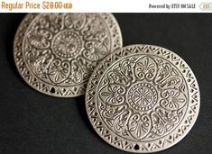 HOLIDAY SALE Set of Two Stamped Silver Viking Brooches. Silver Apron Pins. Norse Brooch Set. Compass Mandala Shoulder Brooches. Norse Reenac by Gilliauna from Bits n Beads by Gilliauna. Find it now at http://ift.tt/2BB2Z9B!