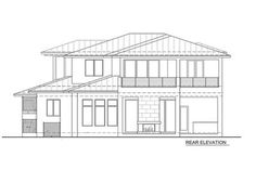 Spacious, Upscale Contemporary with Multiple Second Floor Balconies - 86033BW thumb - 02