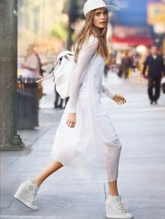 Sports Luxe ☆ Cara Delevigne for DKNY