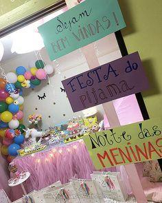 Festa Unicórnio da Trinit y 6 Sleepover Party, Slumber Parties, Happy Party, Pink Parties, Childrens Party, 5th Birthday, Girls Night, Drunk In Love, Halloween