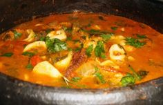 Squid Stew, known as caldeirada de lulas, is one of the best and most popular Portuguese seafood dishes.