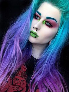 """I want a tattoo of lieutenant commander Data with the words """"I am a Frenchman� so bad it would make me so happy. What's a silly tattoo… Makeup Dupes, Glam Makeup, Eye Makeup, Hair Makeup, Goth Hair, Grunge Hair, Gothic Makeup, Fantasy Makeup, Pastel Goth Makeup"""