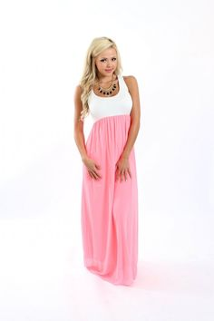 Modern Vintage Boutique - In Love with Color Maxi Neon Pink, $44.00 (http://www.modernvintageboutique.com/in-love-with-color-maxi-neon-pink.html)