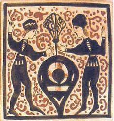 """Cerámica Artística Valencia – Azulejos y Gres - Azulejo Medieval """"Socarrat"""" - Azulejos socarrat - Romance"""