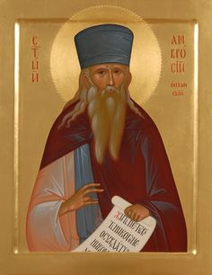 Saint Ambrose of Optina - Hand Painted Icon - http://catalog.obitel-minsk.com/imp-07-01-st-ambrose-of-optina.html?&___store=default - #Orthodox #Eastern #Church #Orthodoxy, #Miracle, #Blessed #Faith #Lacquered #Saint, #Ambrose #Optina
