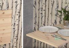 DIY pour fabriquer une table à manger rustique - Table pour salle à manger - 18h39.fr Grande Table A Manger, Diy Table, Curtains, Shower, Plaque, Architecture, Home Decor, Rustic Dining Table Set, Dining Table
