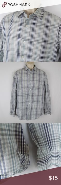 Perry Ellis Casual Dress Plaid Shirt Medium Perry Ellis Casual Dress Shirt Plaid Button Down Men's Long Sleeve EUC   Size: Medium  💥Please view pictures for detail 💥No Noticeable Defects or Weird Smells 💥All Clothes are stored in a Non Smoking House Hold (Smoke Free) 💥Fast Shipping with one day handling. 💥5 Star Customer Feedback!!!!! 💥30 Day Return!!! Money Back Guaranteed!!!!    *Thank you for looking & feel free to check out my other items! Perry Ellis Shirts Casual Button Down…