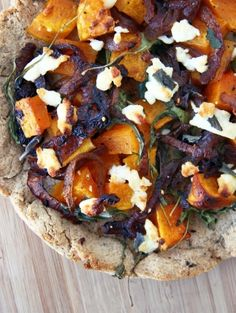 Caramelized Onion, Roasted Butternut and Goat Cheese Pizza