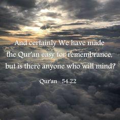 Al Quran Al Karim, Mindfulness, Consciousness