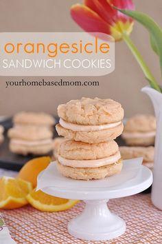 orangesicle sandwich cookies - a fun twist on an old favorite!