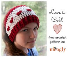 Love is Cold Ear Warmer - free #crochet pattern in 2 sizes on Moogly!