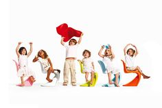 We love our chairs!  Vitra Panton Junior
