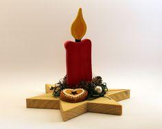 Holzdeko Holz Deko Kerze Weihnachten Idee Eine Schöne Handbemalte