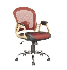CorLiving Executive Office Chair in Leatherette and Mesh, Black