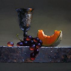 cantaloupe study revised by turningshadow - Paintings by David Cheifetz Learn To Paint, Art Painting, Fine Art, Still Life, Still Life Art, Painting, Still Life Oil Painting, Portrait Painting, Fruit Painting