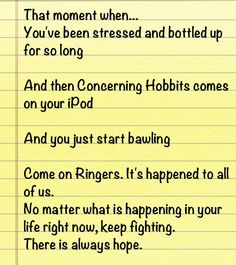 THIS is why I love the LOTR Fandom. Because all of us have been there. And we know it. While the rest of the fandoms and the world are doing who knows what, Ringers fight for each other like a community. Even when we don't know each other, we always have each other's back. #ringersforever