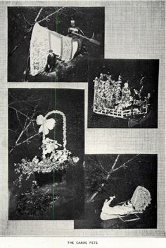 The 1920 Canoe Fete.  From the 1921 Oregana (UO yearbook).  www.CampusAttic.com
