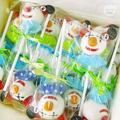 Clown Cake Pops für einen Kindergeburtstag