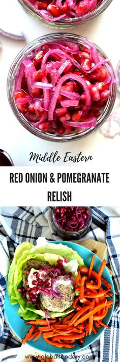 red onion and pomegranate relish paleo condiment