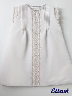 Vestido Piqué Gris Claro - Productos bebé de siempre - Bebé de siempre - Tienda de ropa infantil Eliam