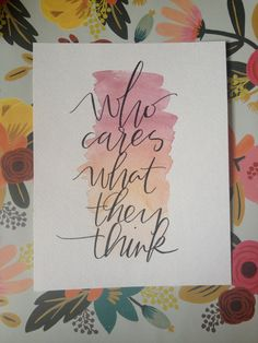 8 by 10 Inch original watercolor quote by KindredCalligraphyca, $10.00