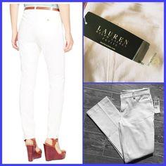 "❤️ Adorable Lauren Stretch Cotton Straight Pants❤️ ❤️ Super Cute Ralph Lauren Stretch Cotton Straight Pants 4P, NWT❤️ 95% Cotton, 5% Elastane. Measurements Inseam 28"", Leg Opening 13"", Rise 8""❤️❤️❤️ Ralph Lauren Pants Straight Leg"