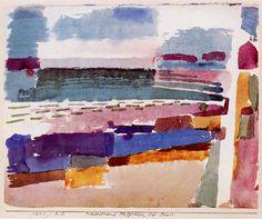PAUL KLEE. Playa de S. Germain cerca de Túnez. 1914.