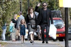 Helena Bonham Carter has a family day