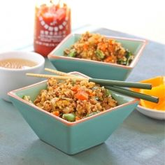 Fried Asian Quinoa by livelifetoo: Use whatever veggies you have on hand.  #Quinoa #Asian #Fried