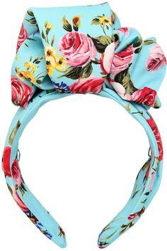 Dolce & Gabbana Floral Printed Silk Headband