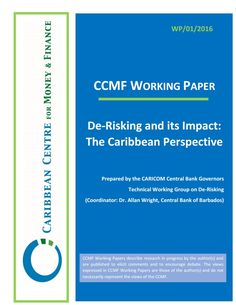 De-risking and its Impact: the Caribbean Perspective (EBOOK) FULLTEXT…