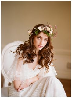 Delicate rose and jasmine flower crown