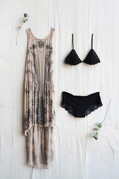 // my two favorites: fancy dresses + lingerie! Estilo Fashion, Fashion 101, Boho Fashion, Punk Fashion, Lolita Fashion, Fashion Photo, Fashion Dresses, Bohemian Mode, Bohemian Style