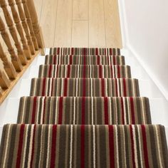 buy a red strike stair runner rug at any length you need