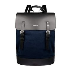 Sandqvist Hege Backpack - Blue Black Leather Backpack 53575cd107544