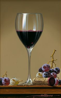still life - wine glass with grapes by Javier Mulio (oil painting) Painting Still Life, Still Life Art, Art Du Monde, Wine Painting, Painting Art, Still Life Photos, Wine Art, Realistic Paintings, In Vino Veritas
