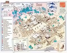A 3D graphic of the layout of the Palace of Knossos, which I visited in May 2012.