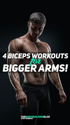 Check out the 4 Biceps Workouts for Bigger Arms. If your fitness goal is bigger arms then you really need to read this article. The four workouts are designed in a way to deliver four different results for your arms - 1) building crude muscle mass; 2) working on the peak of the biceps; 3) workout the shorthead of the biceps; and 4) work on the definition of the muscle. All four workouts are easily downloadble so that you can take them with you on your smartphone or you can even print them…