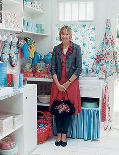 Cath Kidston in her shop in Wimbledon, London    via: vintageamethyst.blogspot.com
